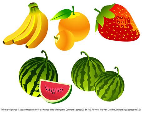 Free Vector fruta, Vetores.