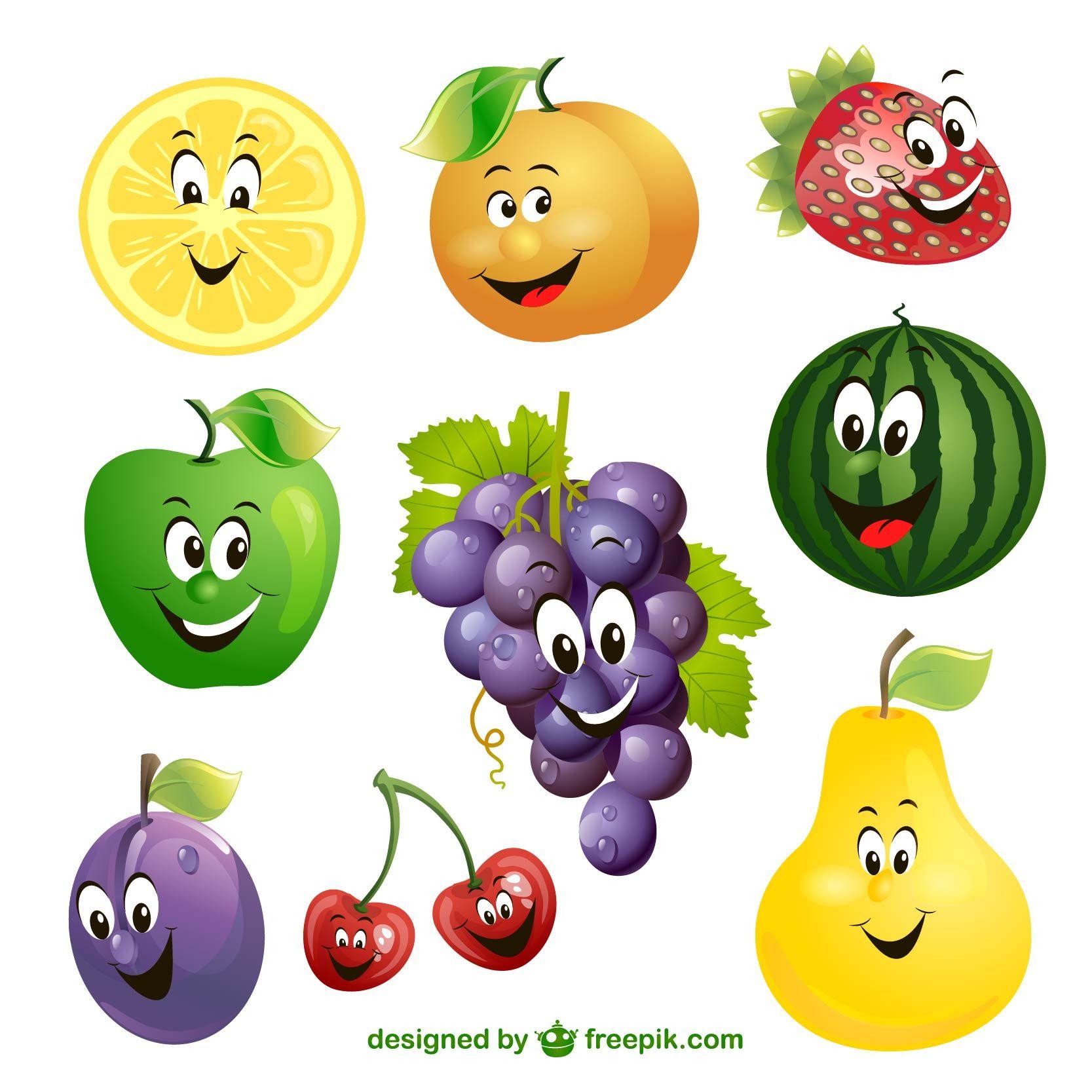 frutas sorridentes.