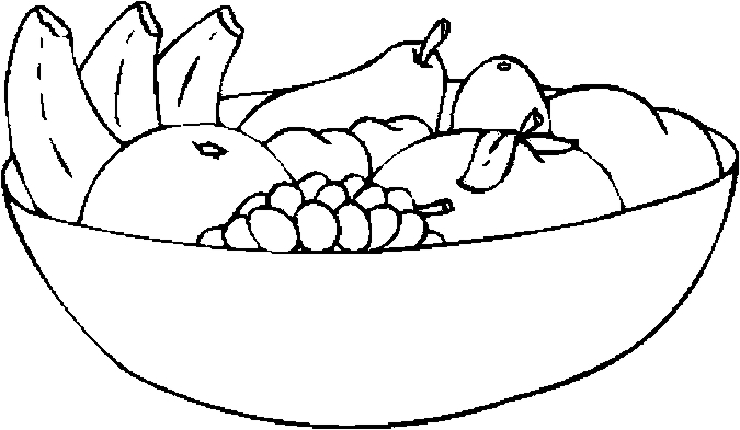 Fruit Coloring Clip Art With Fruits Clipart To Color : Fruit.