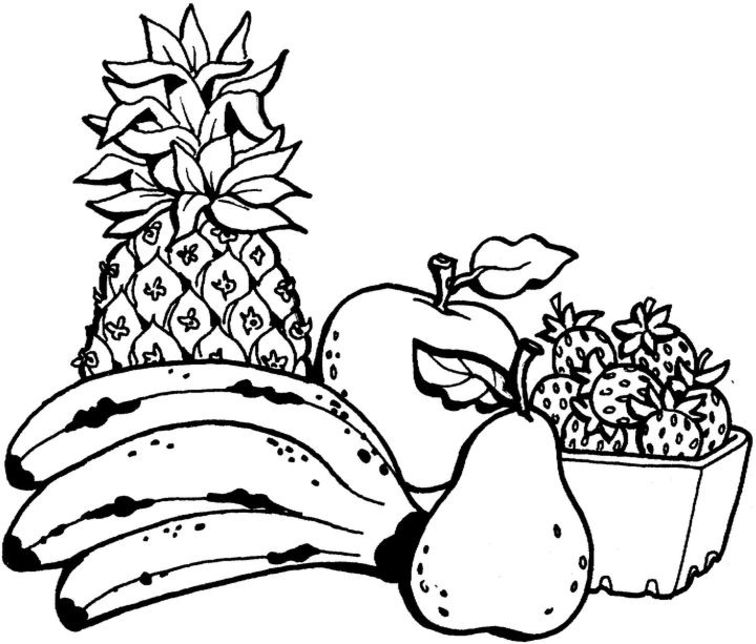 Fruits Coloring Pages.