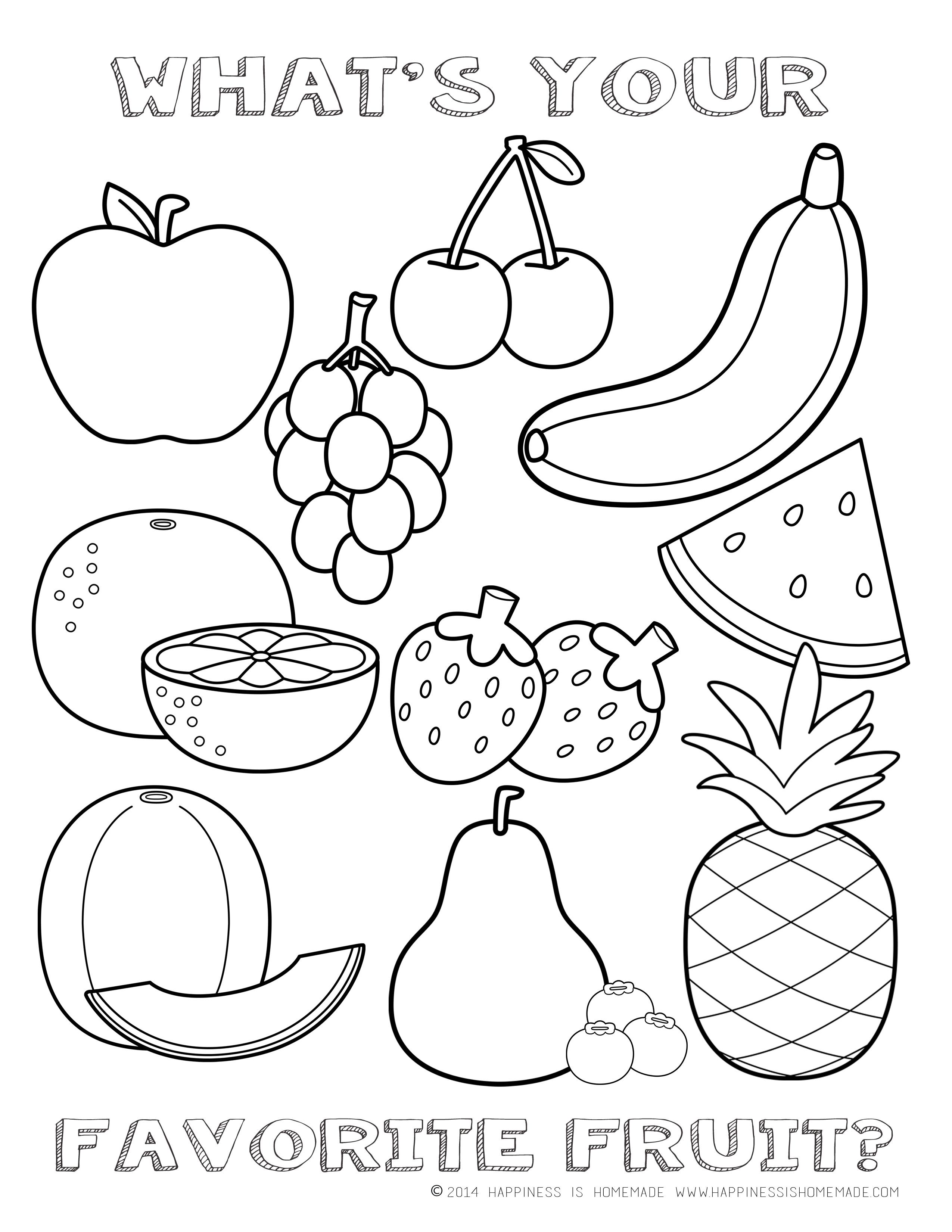 Fruits Fruits coloring pages fruits coloring sheets Fruits.