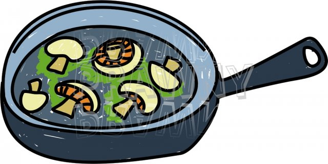 Fry food clipart.