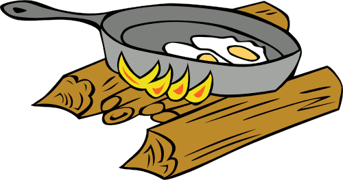 Frying clipart.