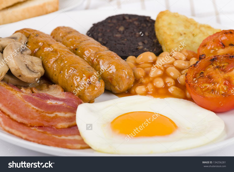 Full English Breakfast Traditional English Fryup Stock Photo.