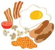 Great British Fry Up, English Breakfast Stock Photo.