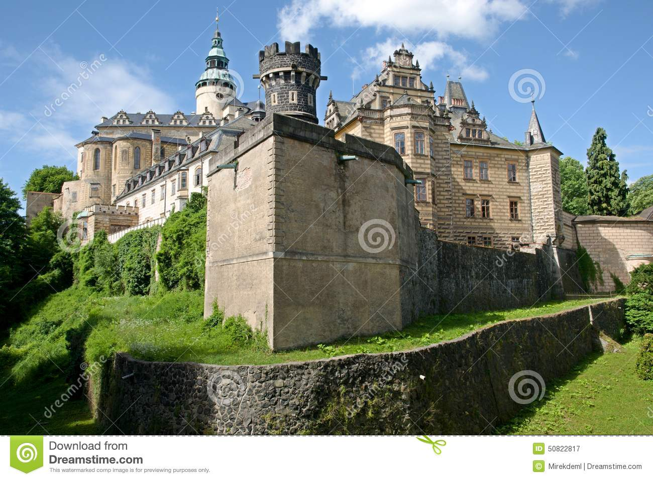 Castle Frydlant, Czech Republic Stock Photo.