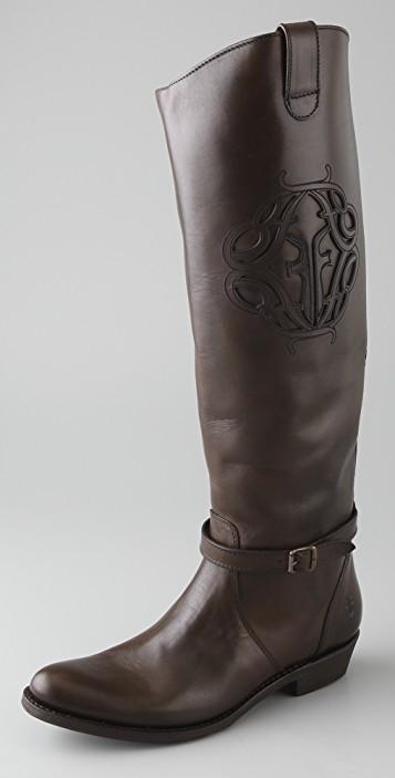 Rider Logo Flat Boots.