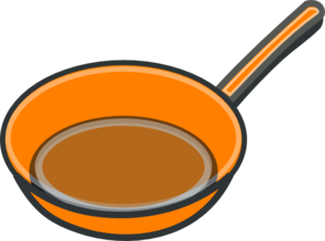 Frying pan clip art.