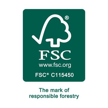 Troldtekt offers FSC® certified acoustic panels.