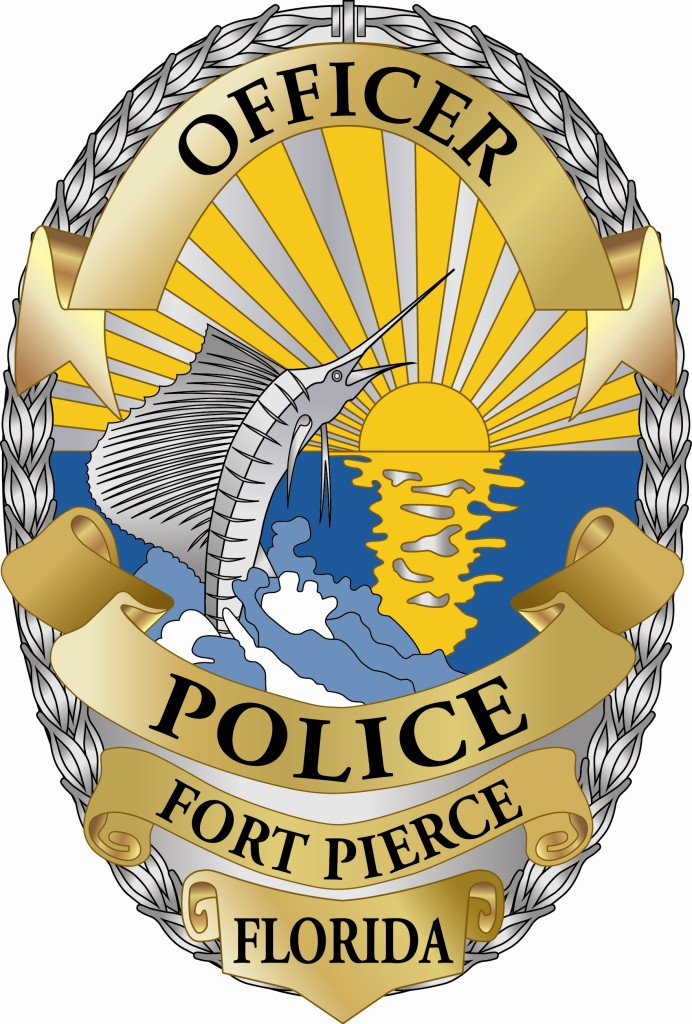 Officer Badge Silver : Fort Pierce Police Athletic League.