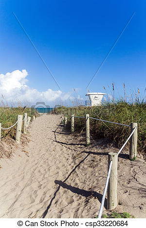 Pictures of way to Fort Pierce beach Florida USA csp33220684.