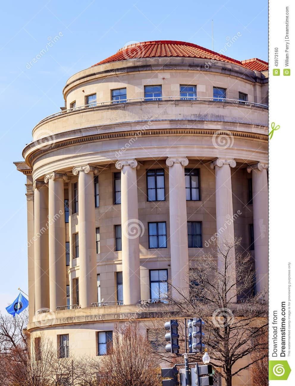 US Federal Trade Commission FTC Flag Washington DC Stock Photo.