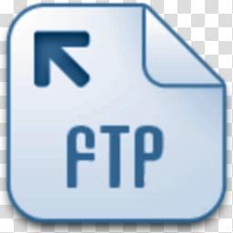 Albook extended blue , FTP logo transparent background PNG.