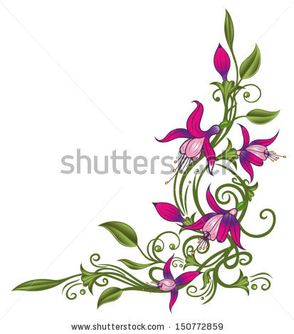 Fuchsia triphylla clipart #8