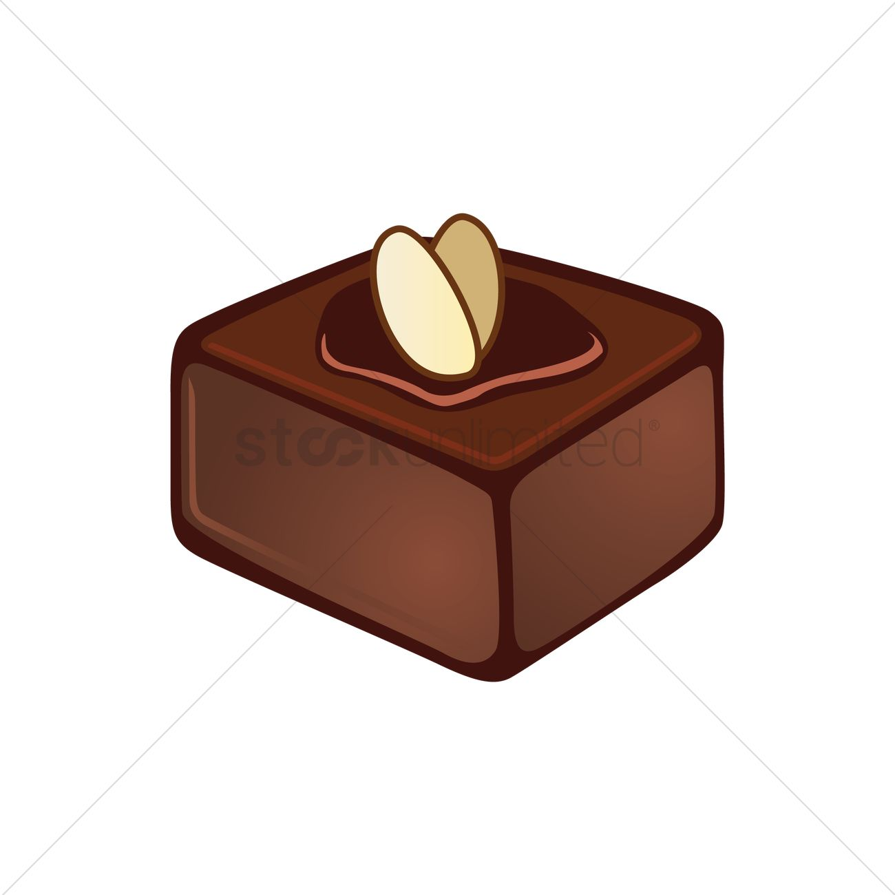Free Chocolate fudge Vector Image.