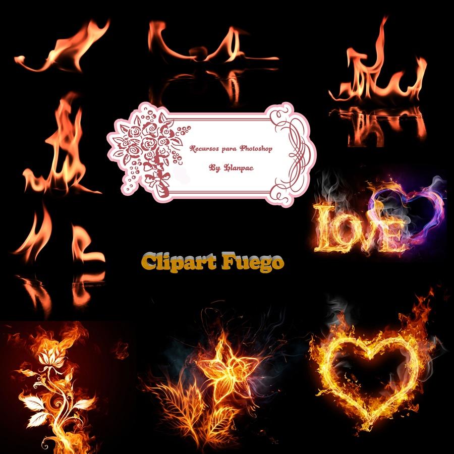 Recursos Photoshop Llanpac: Colección de clipart de fuego.