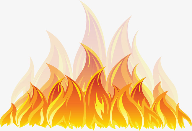 The Burning Flame, Flame Vector, Flame Clipart, Vector Material PNG.