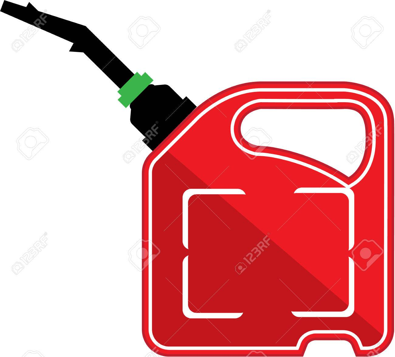 Fuel can vector illustration clip.