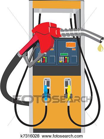 Fuel pump Clip Art.