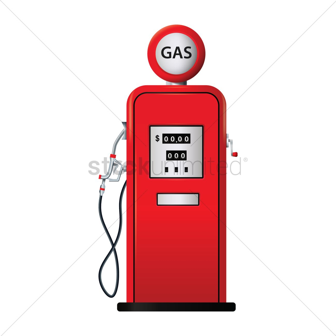 Fuel dispenser Vector Image.