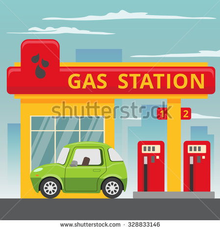 Gas Station Stock Photos, Royalty.
