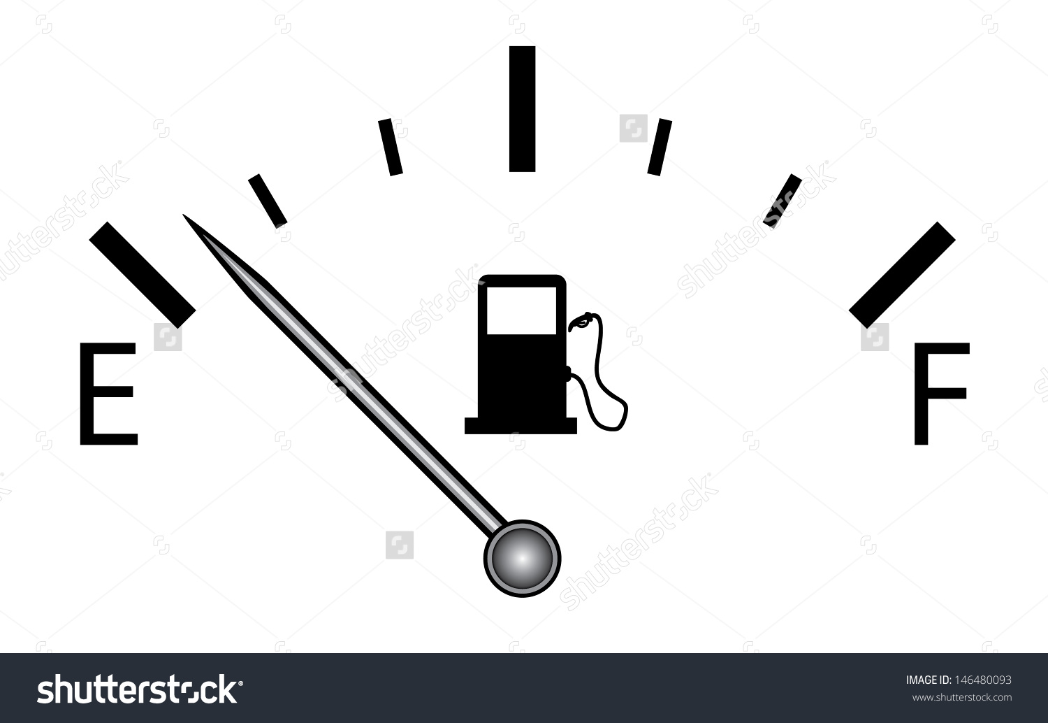 Fuel Gauge Vector Isolated Vector On Stock Vector 146480093.