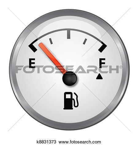 Clipart of Detailed Gas tank almost empty k9599670.