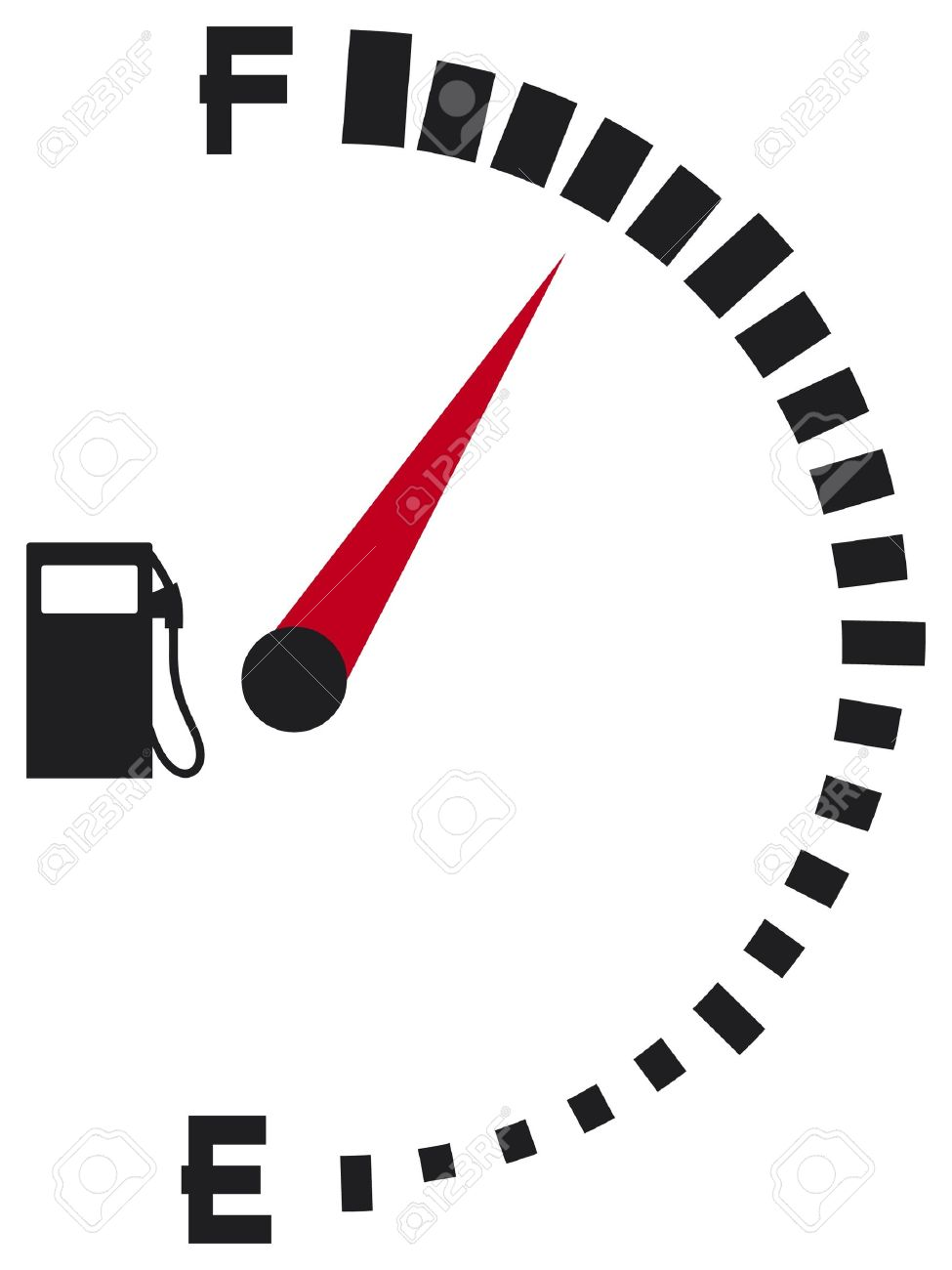 Free fuel gauge clipart.
