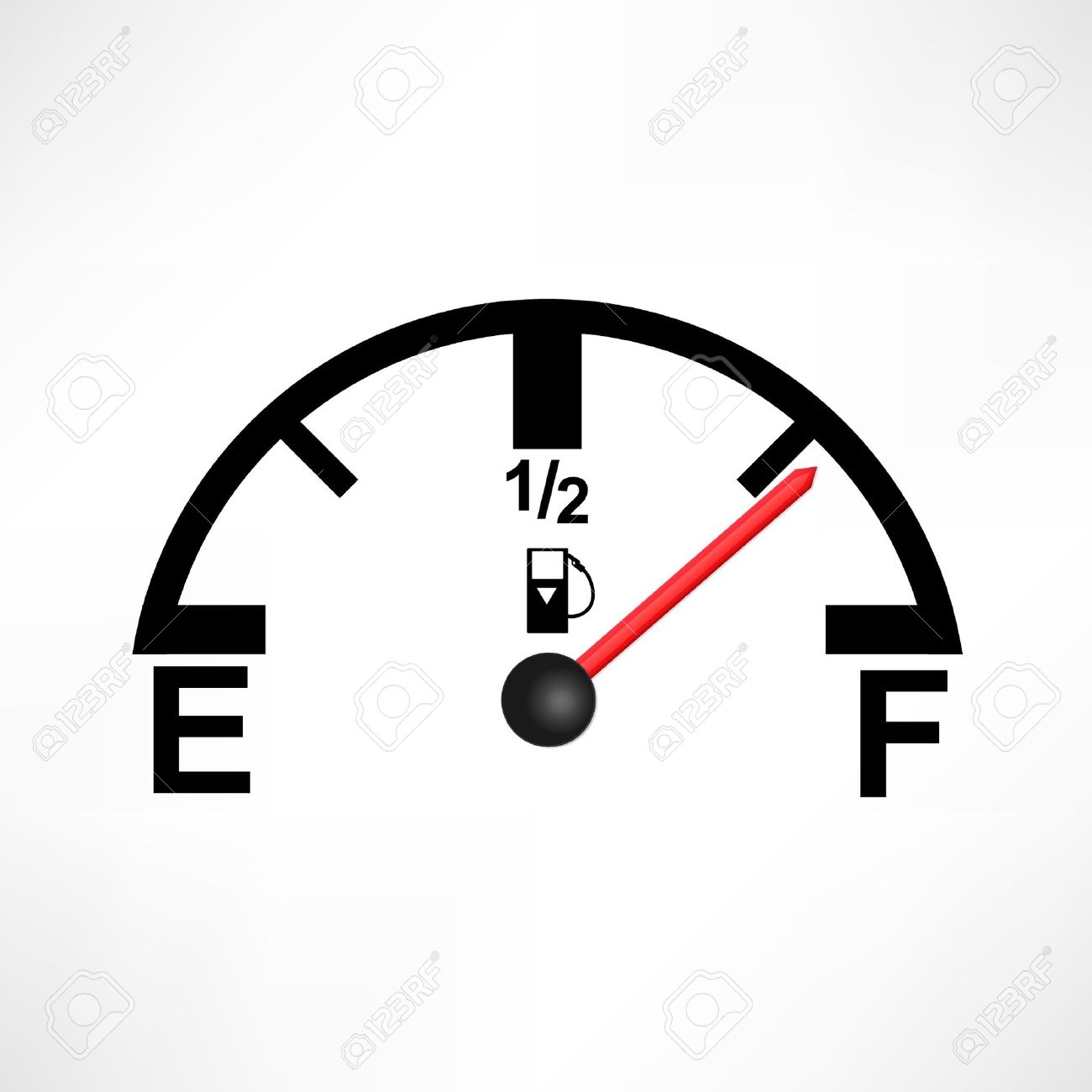 Fuel gauge clipart no needle.