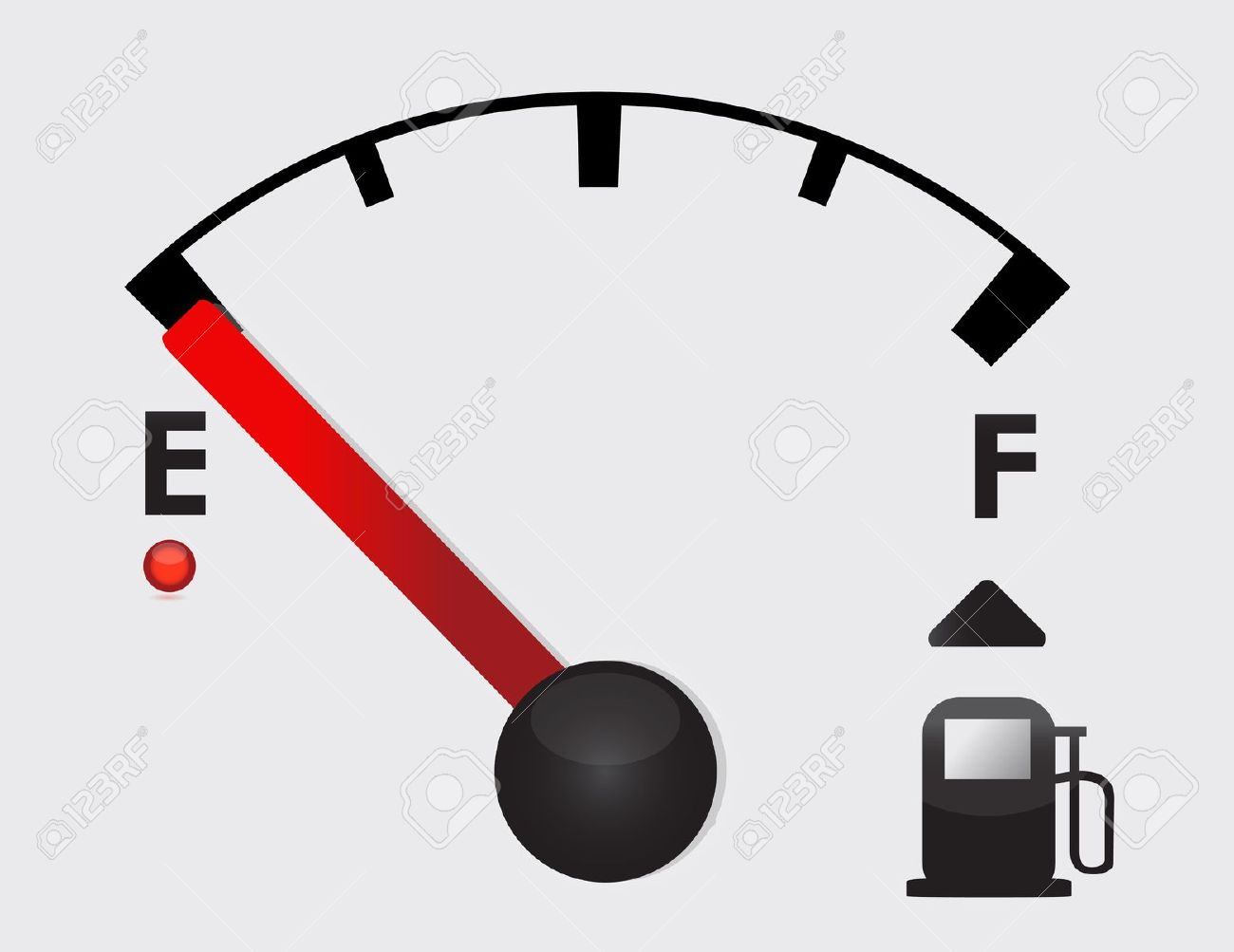 Empty Gas Tank Illustration Royalty Free Cliparts, Vectors, And.