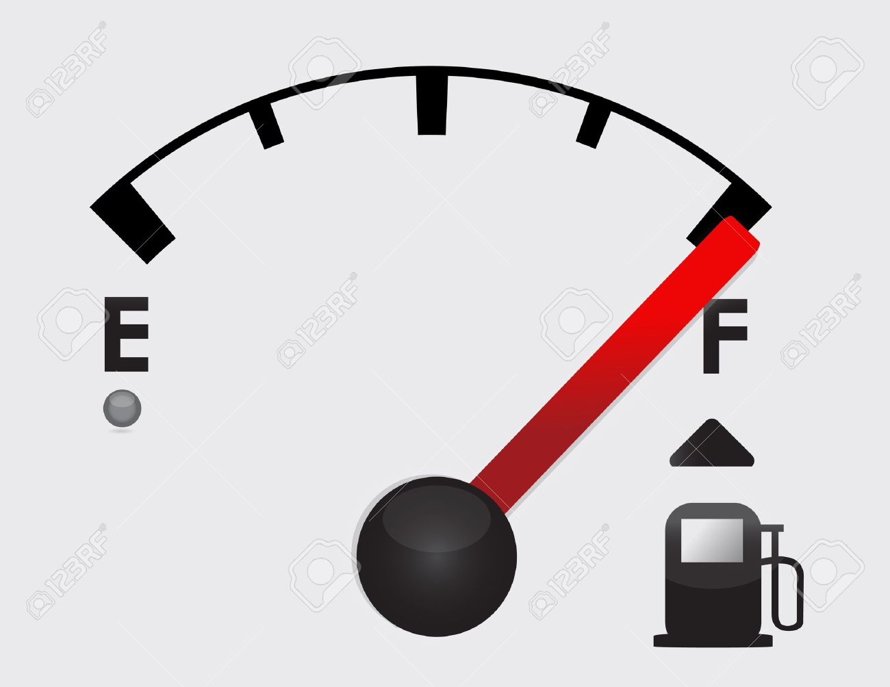 Full Gas Tank Detail Illustration Design With Icons Royalty Free.