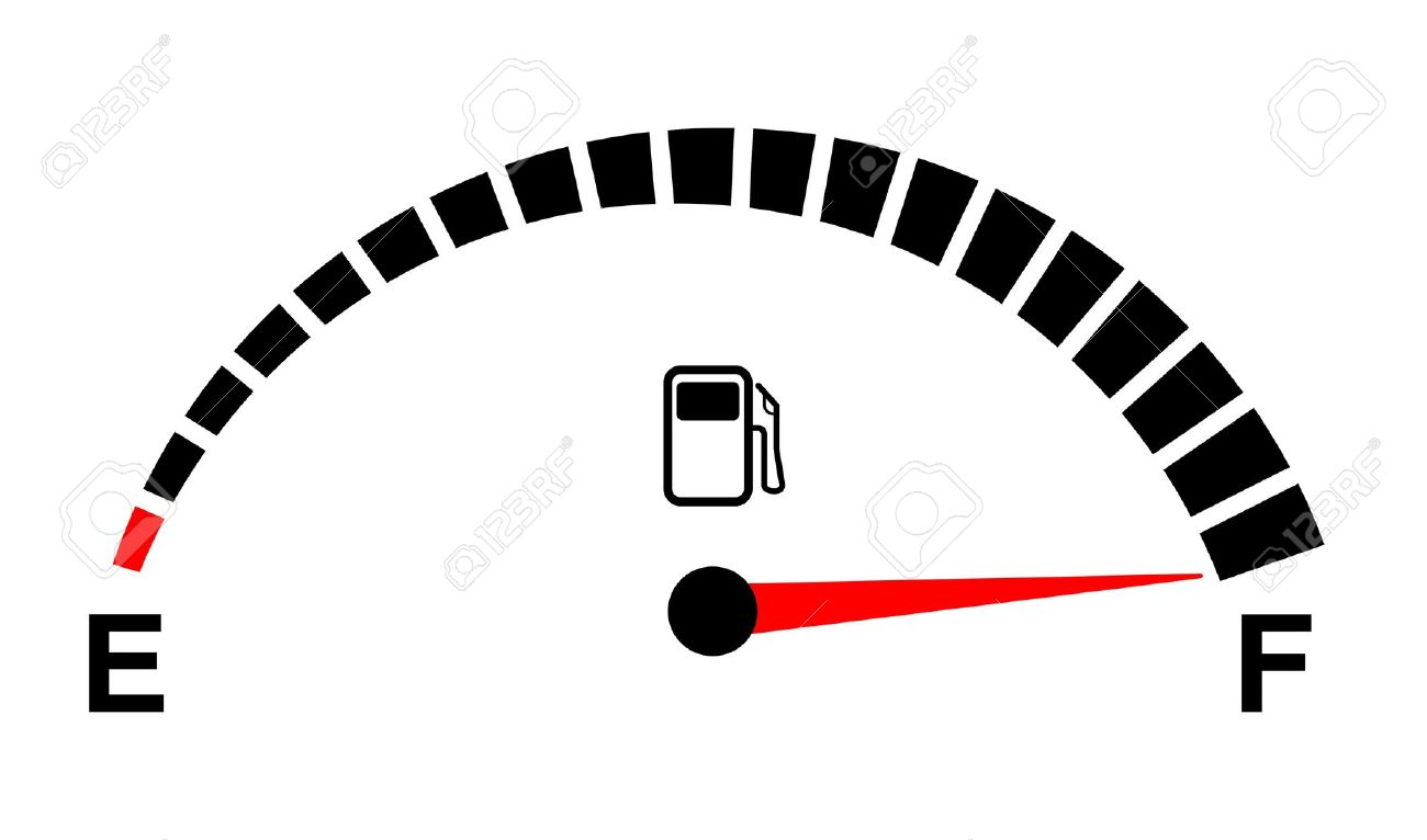Fuel Gauge Full On White Royalty Free Cliparts, Vectors, And Stock.