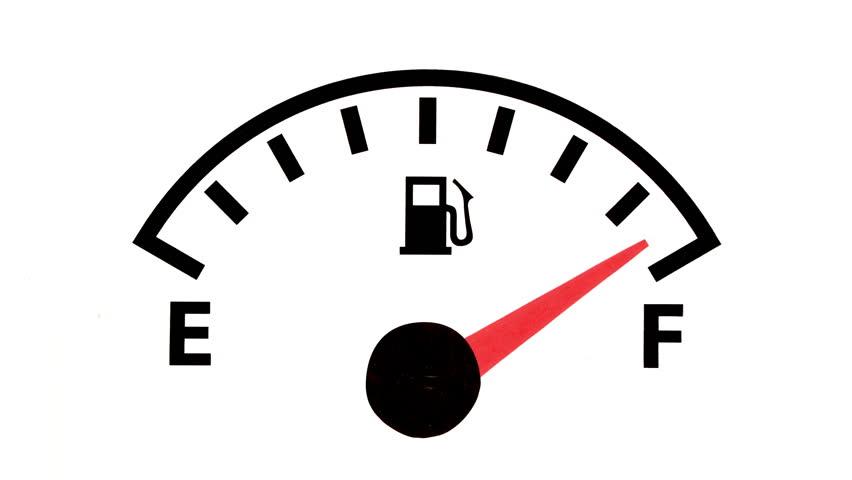 Fuel Gauge Stock Footage Video.
