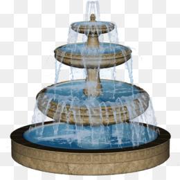 Fuentes de agua potable Jardín Clip art.