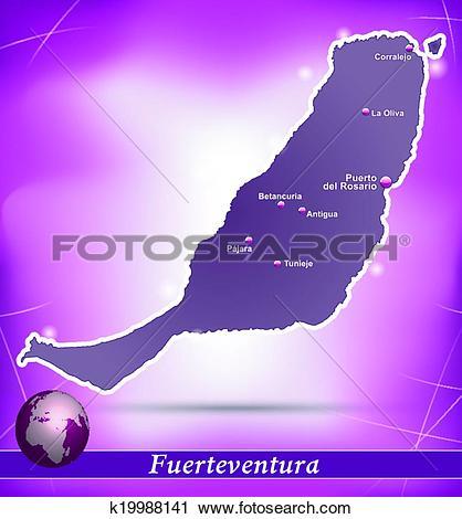 Clipart of Map of fuerteventura k19988141.