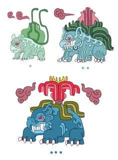 Pokémayans, una serie de ilustraciones de Pokémon inspirados en al.