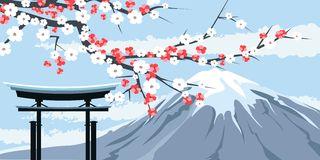 Mount fuji clipart.