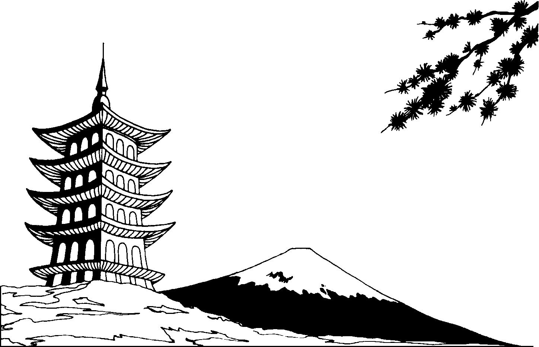 Mt fuji clipart free.