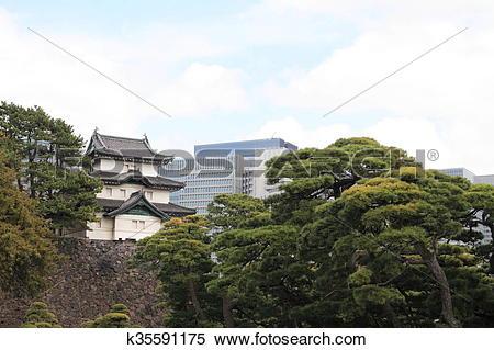 Stock Image of Fujimi keep of Edo castle k35591175.