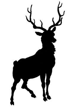 Reindeer Silhouette Free Printable.
