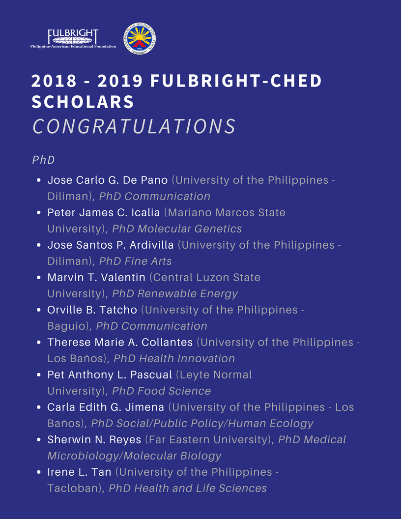 Nineteen Scholars Named as the 2018.