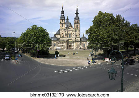 "Stock Photography of ""St. Salvator Cathedral of Fulda, Fulda."