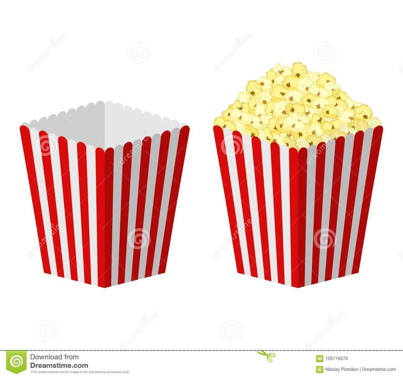 Empty Popcorn Bag Clipart.