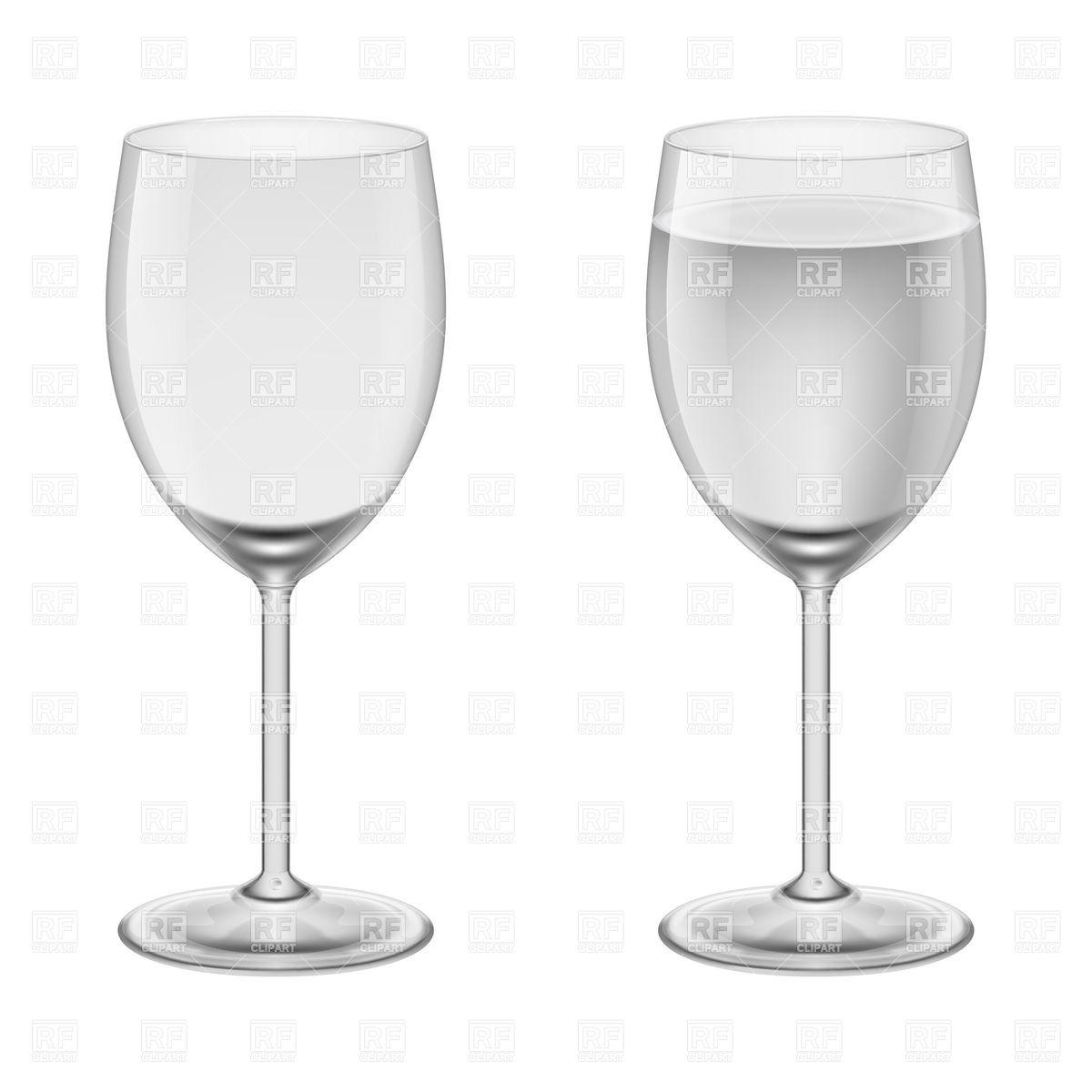 Empty Wine Glass Clipart.