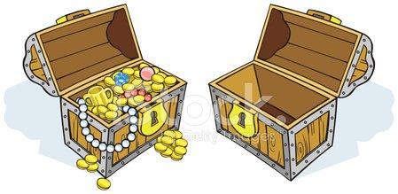 Treasure Chests Success, Full, Empty stock vectors and.