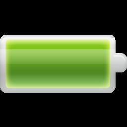 Battery, full icon.