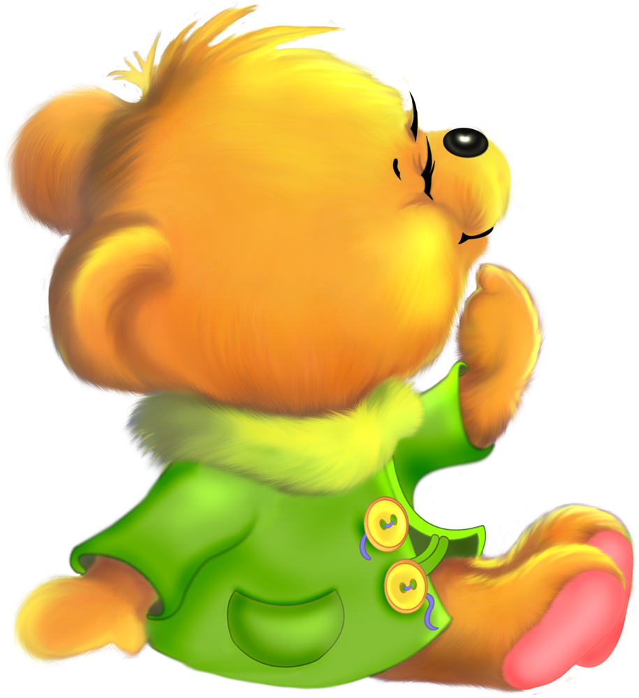Cute Bear Cartoon Free Clipart.