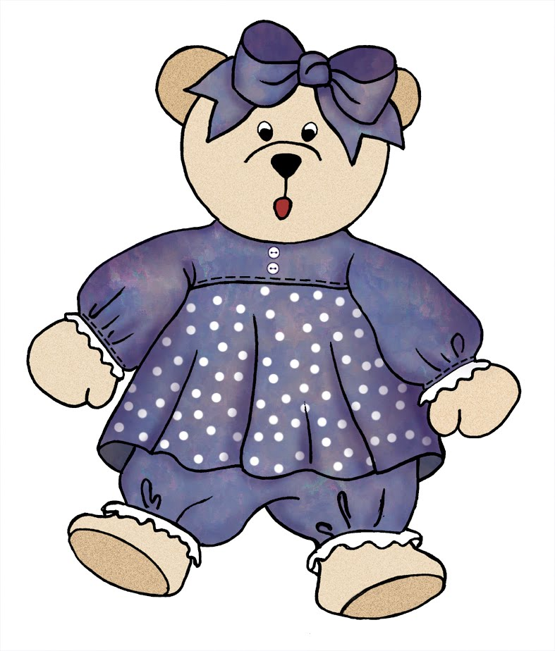 Purple Bear Clipart.