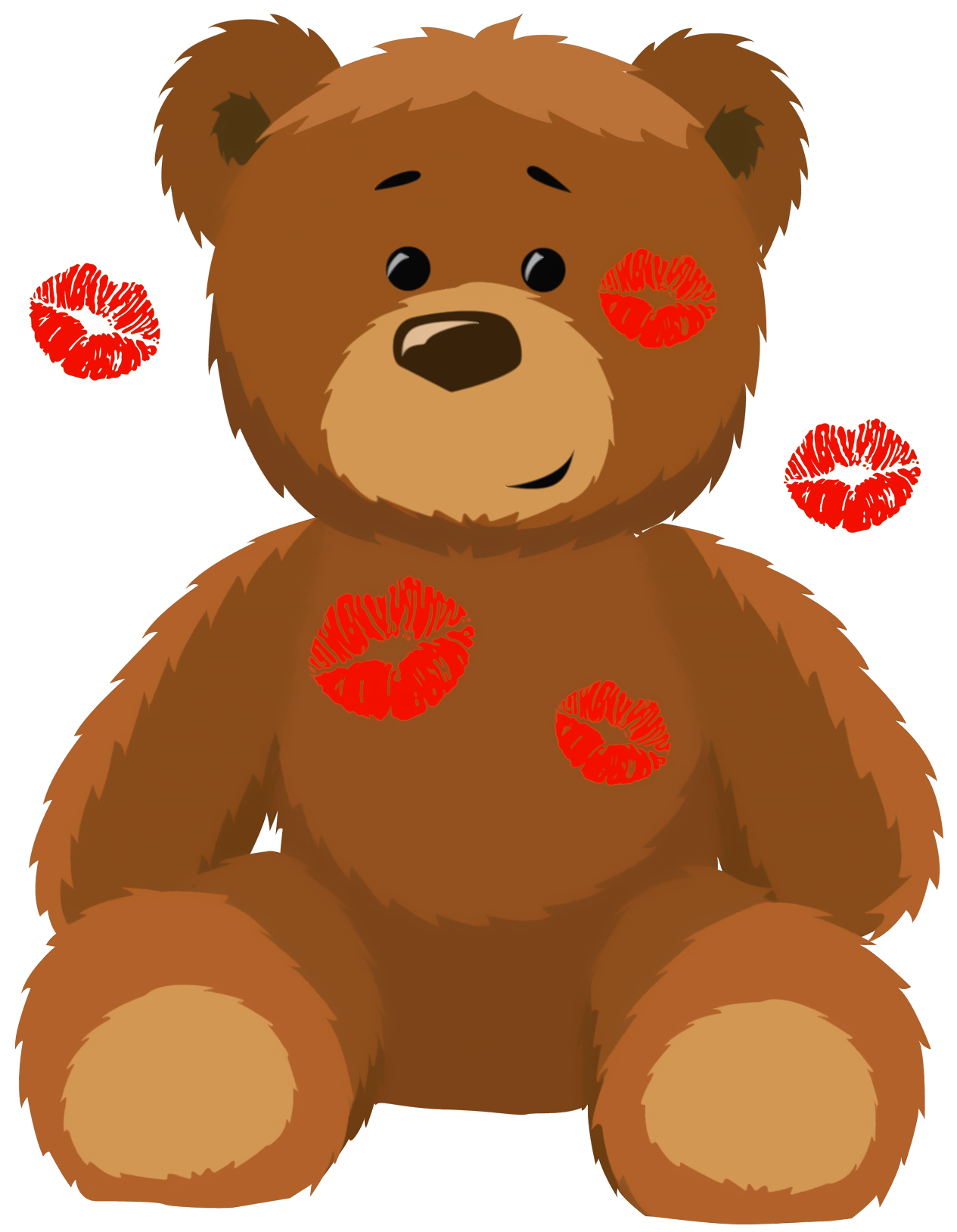 Valentine bear clip art.