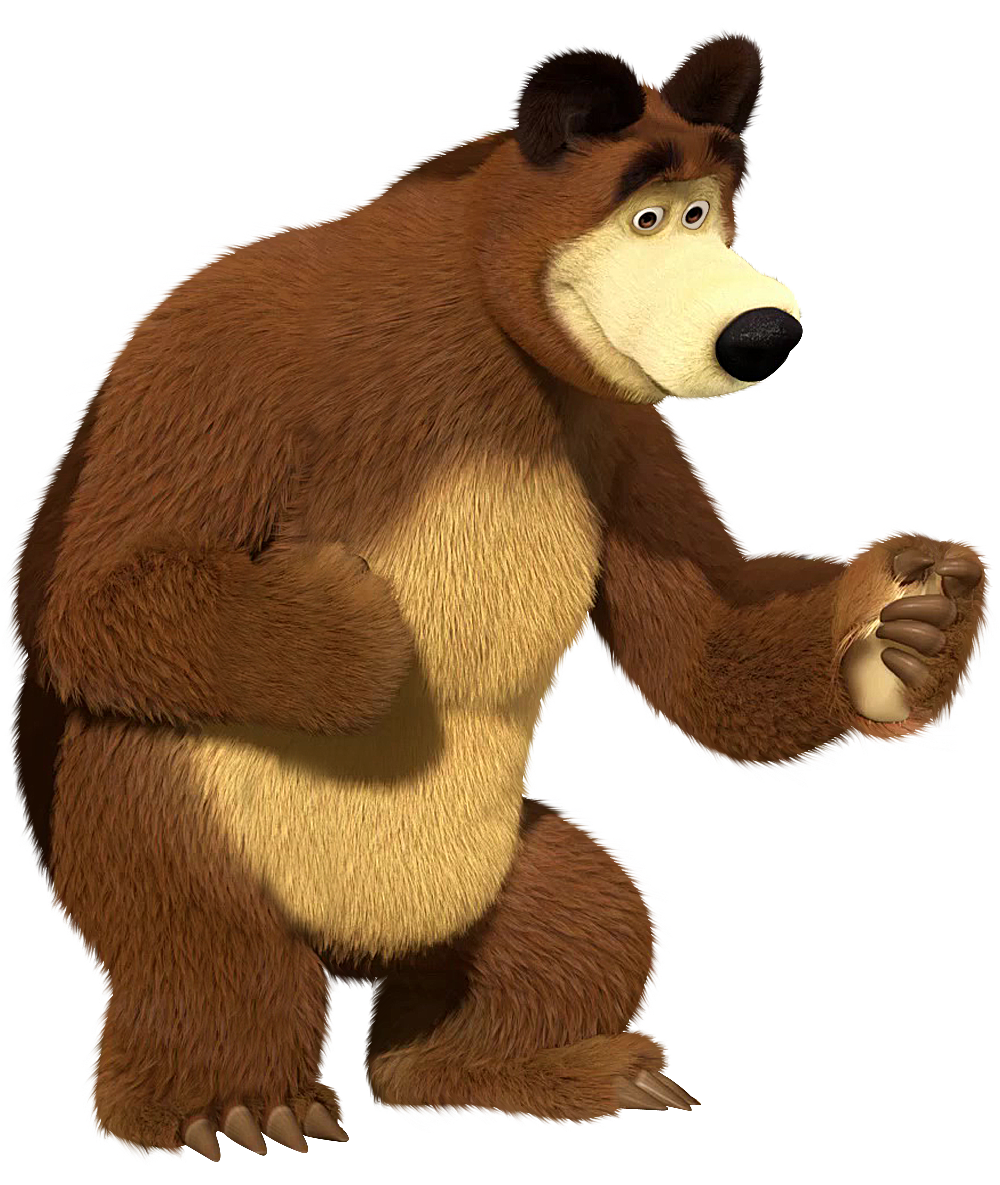 Masha and the Bear Bear Transparent PNG Clip Art Image.